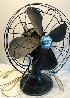 Delco Electric Fan Working Industrial Antique by flabbyrabbit, $74.25