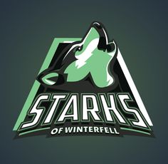 Game of Thrones' family crest as a sports team logo.  Brilliant.