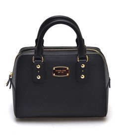 Look what I found on #zulily! Black Saffiano Leather Satchel by Michael Kors #zulilyfinds