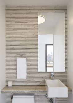 Fifth Avenue Duplex Penthouse SPG Architects Archinect - incredible modern bathroom tile Modern Bathroom Tile, Bathroom Renos, Bathroom Interior, Small Bathroom, Minimal Bathroom, Washroom, Bathroom Designs, Bathroom Ideas, Bad Inspiration