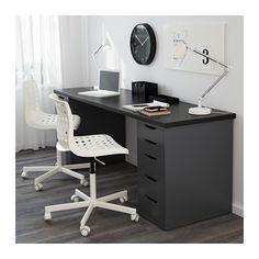 LINNMON Pöytälevy - mustanruskea - IKEA