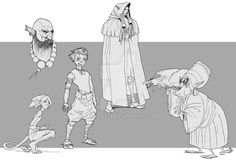Character Sketches by Anciant1.deviantart.com on @DeviantArt
