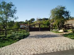 Estate Driveways, Entries, Gates, paving - mediterranean - spaces - san diego - The Design Build Company