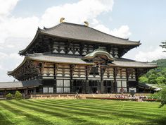 Nara, Japan. Oldest standing wooden building in the world. Buddhist temple.