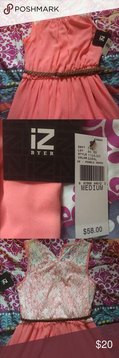 NWT IZ Byer dress Peach IZ Byer dress. Brand new with tags. Never worn.                                                                                ✔️ BUNDLE: 15% off 2+ items Iz Byer Dresses Midi