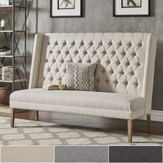 Shop for Sawyer Straight Back Tufted Linen Upholstered Bench by iNSPIRE Q Artisan. Get free shipping at Overstock.com - Your Online Furniture Outlet Store! Get 5% in rewards with Club O! - 24157357