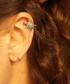 Silver Turtle Cartliage Earring Tragus Helix Piercing on Etsy, $9.00