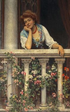Pintor italiano Eugene de Blass (1843-1932)