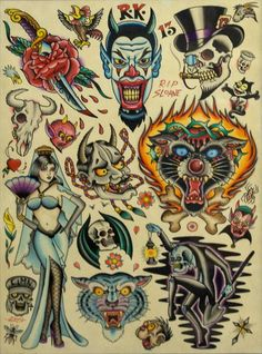 Traditional tattoos...looks like somethin for James :)