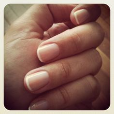 french manicure with thin white tips This is my idea of a perfect manicure!