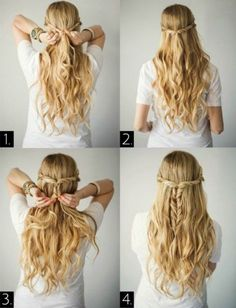 How to do hairstyle picking up half the hair xtenismata gamos misa mallia
