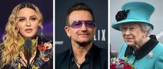 Madonna, Bono and Queen Elizabeth II are among many high-net-worth individuals whose investments are... - Nicholas Hunt/Getty Images; Valerie Macon, via Agence France-Presse — Getty Images; Pool photo by Ar...