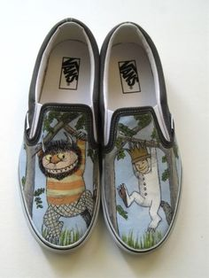 Where the wild things are Vans shoes - Click image to find more other Pinterest pins