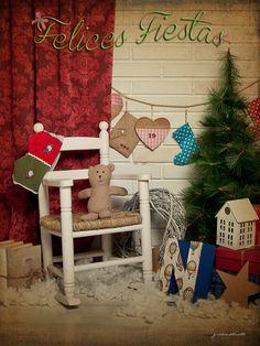 Decorado Navideños para fotografía de guardería para niños pequeños juanmadelvalleFotografía