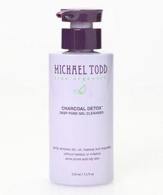 Charcoal Detox Deep Pore Gel Cleanser by MICHAEL TODD true organics #zulily #zulilyfinds
