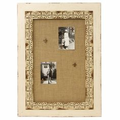 White Wash Magnetic Pin Board