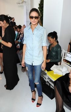 Olivia Palermo attends the Delpozo fashion show on September 8, 2013 in New York City.