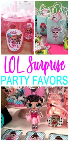 Party Favors! BEST LOL Surprise party favors that kids will love (for girls and for boys)! Amazing LOL Surprise Doll party favor ideas that are easy, quick and simple. Goodie bags, DIY crafts, Party Favor Bags, Candy and more. Find the coolest and BEST party favor ideas now perfect for any birthday party!
