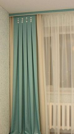 Window decoration with textiles: custom sizes- Оформление окон текстилем: нестандартные р… Window decoration with textiles: custom solutions that make the decor special - Hanging Curtains, Curtains With Blinds, Drapes Curtains, Valances, Curtain Styles, Curtain Designs, Window Coverings, Window Treatments, Rideaux Design