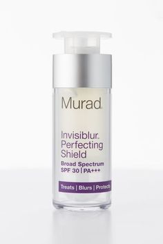 """A sunscreen you won't believe is sunscreen — it's totally clear! — and that you'll actually want to wear. Lab Notes """"Not oily, heavy, or irritating"""" and it """"made skin baby-soft,"""" """"kept makeup in place,"""" and """"softened lines."""" Murad Invisiblur Perfecting Shield Broad Spectrum SPF 30 / PA+++, $65, Sephora"""