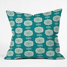 Rosenberry Rooms has everything imaginable for your child's room! Share the news and get $20 Off  your purchase! (*Minimum purchase required.) Blue Flowers Throw Pillow