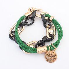 Europe vintage exotic unique bracelet ( green )