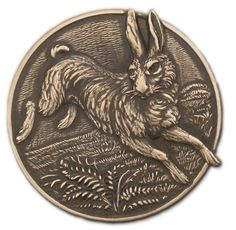 Rabbit Disc Brass Stamping for Vintage Style Jewelry