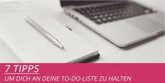 7 Tipps, um dich an deine To-Do-Liste für den Blog zu halten von Diana