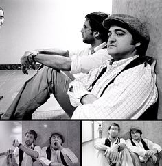 Chevy Chase & John Belushi, photos by Michael Tighe, NYC 1976