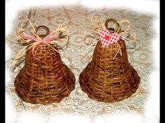 Como tejer los adornos navidenos de papel reciclado. Parte 1. - YouTube