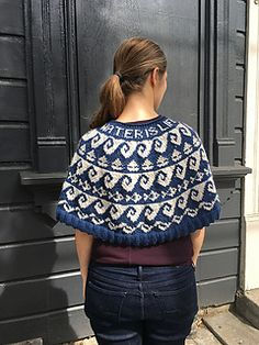 Ravelry: Waves of Change Capelet pattern by Laura Jeanne Ruppert