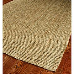 """$73?? WOW what a bargain! Great reviews for this hand-woven sisal runner on Overstock. """"Feels like a massage on my feet."""" Sold."""