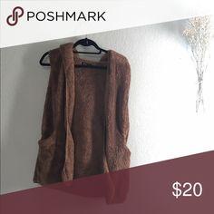Fuzzy sweater vest BWNOT Jackets & Coats Vests