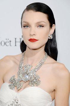 Hair Color Trends Fall 2012 - Dark Side: Jessica Stam