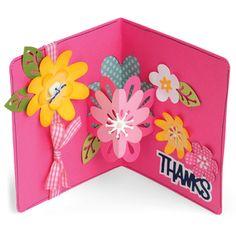 - Sizzix Stephanie Barnard Framelits Dies - Flowers Drop-Ins Card