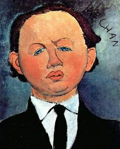 Reproduction with Oil painting effect of painting made by Modigliani Amedeo - Portrait Of The Mechanical 1917 Amedeo Modigliani, Modigliani Paintings, Claude Monet, Gustav Klimt, Mode Poster, Painting Prints, Art Prints, Poster Online, Cute Kittens