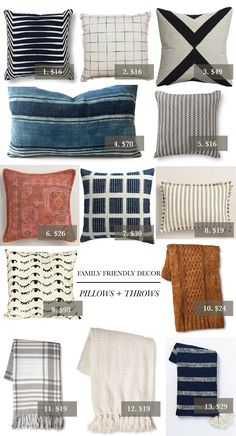 A Family-Friendly Guide to Decorating 2019 round up of throw pillow and throw blanket combos for living room The post A Family-Friendly Guide to Decorating 2019 appeared first on Pillow Diy. Living Room Throws, Living Room Sofa, Living Room Decor, Apartment Living, Apartment Ideas, Coastal Living Rooms, Home And Living, Living Spaces, Family Room Design