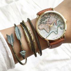 World map watch (5 colors) – Imsmistyle.