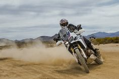 Ari Henning of Motorcyclist Magazine takes the new Africa Twin for a spin on the dirt with our TKC 80 tyres