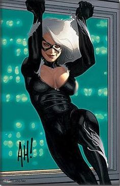 The Black Cat from The Marvel Comic Universe. Hq Marvel, Marvel Girls, Comics Girls, Marvel Dc Comics, Marvel Heroes, Marvel Females, Spiderman Black Cat, Black Cat Marvel, Comic Book Villains