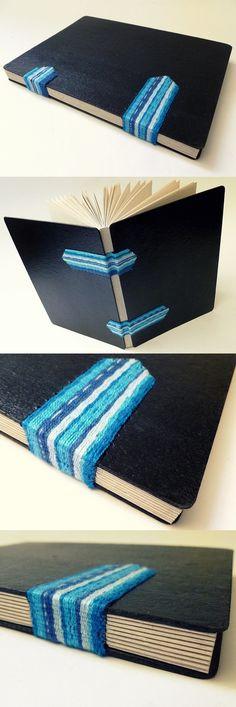 encadernação tecida sobre as capas, por Luisa Gomes Cardoso
