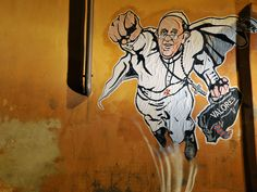 Pope Francis becomes 'SuperPope' in Vatican-approved graffiti - Europe - World - The Independent #SuperPope