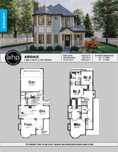 Decorating Ideas for a Two-story Great Room Sims House Plans, Two Story House Plans, Family House Plans, Two Story Homes, Dream House Plans, Small House Plans, House Floor Plans, Victorian House Plans, Victorian Homes