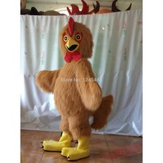 Special Use:CostumesDepartment Name:AdultTheme:Animals & Bugsmaterials::soft plush,foamAccessory::one fan inside the headColours::as picture showAge group::adults Mascot Costumes, Adult Costumes, Chicken Costumes, Adult Children, Costume Accessories, Picture Show, Farm Animals, Plush