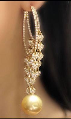 Gold Hoop Earrings, Diamond Earrings, Pearl Earrings, Gold Jewelry, Jewelry Box, Jewellery, Africa Dress, Designer Earrings, Gems