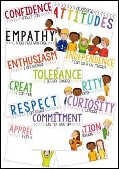 Building Class Community + 2 FREEBIES Awesome attitudes posters for character education and correlate with the IB (International Baccalaureate) program. Social Emotional Learning, Social Skills, Ib Attitudes, Baccalaureate Program, Ib Classroom, Education Logo, Character Education Posters, Learner Profile, Elementary Counseling
