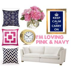 Bedroom next year will deff be pink, navy and white!