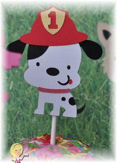 cute dog cupcake topper