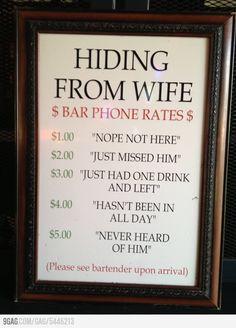 Hiding from wife/girlfriend service