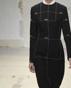 Aganovich S/S 2014: like an inside-out sewing pattern, cool
